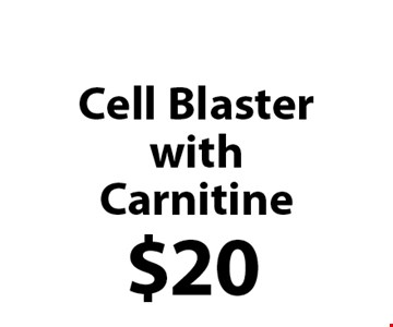$20 Cell BlasterwithCarnitine.