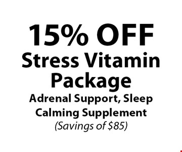 15% OFF Stress VitaminPackageAdrenal Support, Sleep Calming Supplement(Savings of $85).