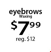 eyebrows Waxing $7.99 reg. $12. With this Clipper coupon. Not valid with other offers or prior services. Offer expires 02-20-17.