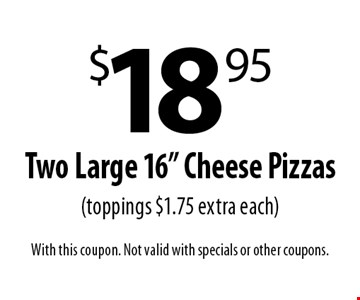 $18.95 Two Large 16