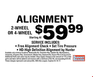 $89.99 Lifetime Warranty Brakes. Additional Parts and Labor may be needed. Shop supply charges in the amount of 17% of the parts and labor will be added to all invoices with a minimum of $2.99, not exceeding $19.99. These charges represent cost and profits.