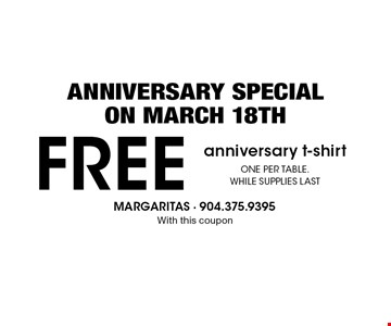 FREE With this coupon