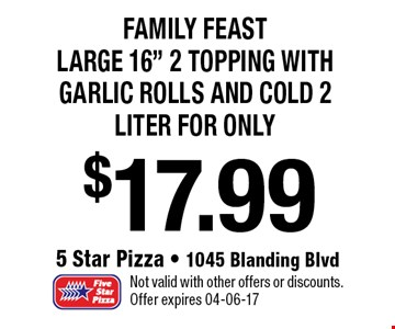 $17.99 Family Feast Large 16