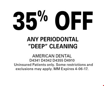 35% OFF any Periodontal