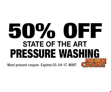 50% OFF Must present coupon. Expires 05-04-17. MINT