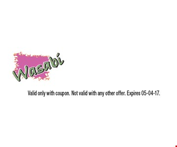 $3 OFF purchase of $20 or more. Valid only with coupon. Not valid with any other offer. Expires 05-04-17.
