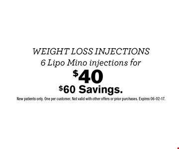 $40 $60 Savings.. New patients only. One per customer. Not valid with other offers or prior purchases. Expires 06-02-17.