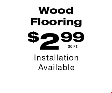 $2.99 Wood Flooring.