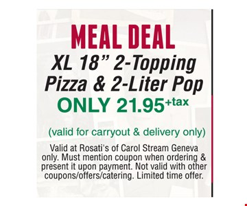 Meal Deal! Only $21.95 +Tax XL 18