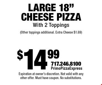 $14.99 Large 18