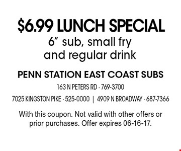 $6.99 Lunch Special 6