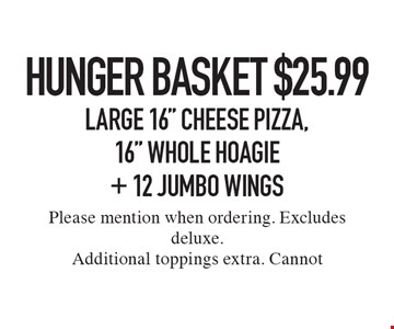 Hunger Basket $25.99 Large 16