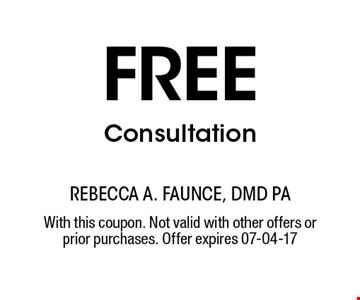 free Consultation. With this coupon. Not valid with other offers or prior purchases. Offer expires 07-04-17