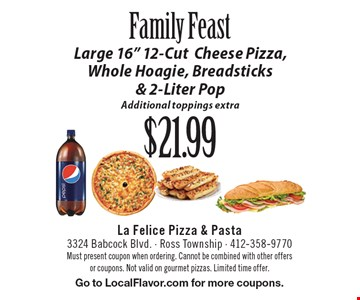 Family Feast $21.99 Large 16