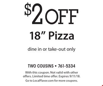 $2 off 18