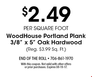 $2.49per square footWoodHouse Portland Plank3/8