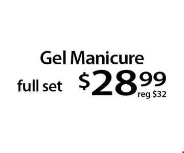 Gel Manicure full set $28.99. With this Clipper coupon. Not valid with other offers or prior services. Offer expires 08-28-17.