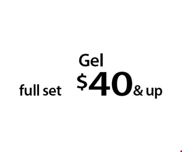 Gel full set $40.& up. With this Clipper coupon. Not valid with other offers or prior services. Offer expires 08-28-17.