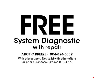 Free System Diagnosticwith repair. With this coupon. Not valid with other offers or prior purchases. Expires 09-04-17.
