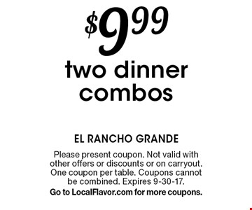 $6 Off any purchase of $25 or more. Please present coupon. Not valid with other offers or discounts or on carry out. One coupon per table. Expires 9-30-17.Go to LocalFlavor.com for more coupons.