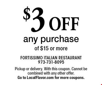 $3 off any purchase of $15 or more. Pickup or delivery. With this coupon. Cannot be combined with any other offer. Expires 12-31-17. Go to LocalFlavor.com for more coupons.