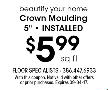 $5.99 sq ft beautify your home Crown Moulding 5