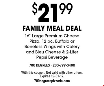 $21.99 family meal deal 16