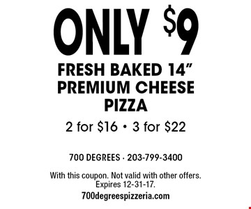 Only $9 Fresh Baked 14