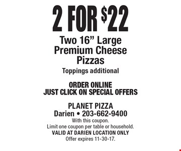 2 for $22 Two 16