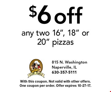 $6 off any two 16