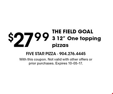 $27.99THE FIELD GOAL3 12