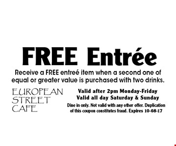 European Street Cafe Coupons