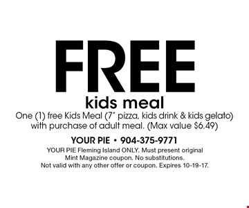 Free kids meal One (1) free Kids Meal (7
