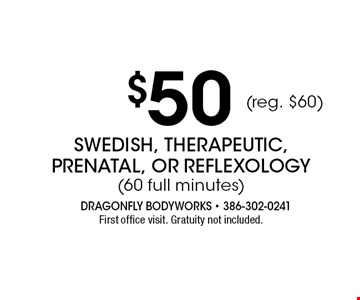 $65 Swedish & Therapeutic (90 full minutes) aromatherapy & hot towel foot-wraps included. Gratuity not included. Offer expires 11-04-17.