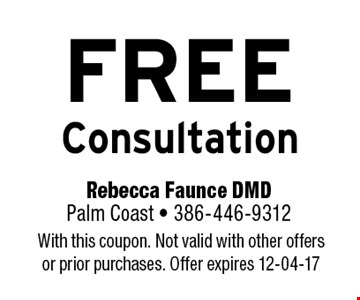 FREE Consultation. With this coupon. Not valid with other offers or prior purchases. Offer expires 12-04-17