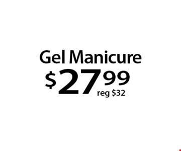 Gel Manicure$27 .99. With this Clipper coupon. Not valid with other offers or prior services. Offer expires 12-25-17.