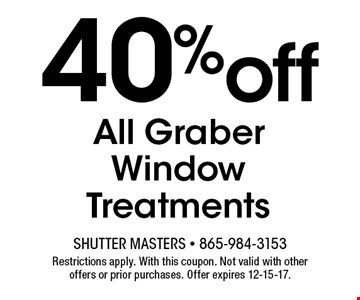 40%off All Graber