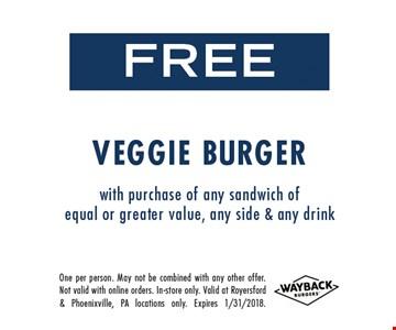 Free Veggie Burger