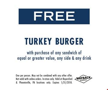 Free Turkey Burger