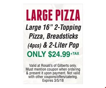 Large Pizza Large 16