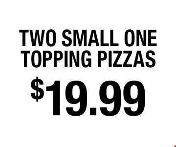 $19.99 two small one topping pizzas. 5 Star Pizza - 1045 Blanding Blvd Not valid with other offers or discounts. Offer expires 3-04-18.