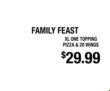 $29.99 xl one topping pizza & 20 wings. 5 Star Pizza - 1045 Blanding Blvd Not valid with other offers or discounts. Offer expires 3-04-18.