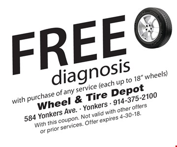 Free diagnosis with purchase of any service (each up to 18