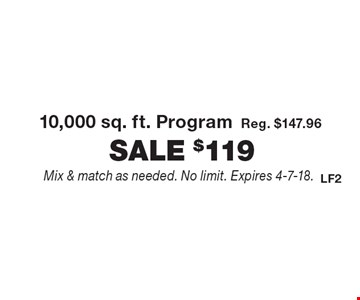 Fertilome - $119 for 10,000 sq. ft. Program. Reg. $147.96. Mix & match as needed. No limit. Expires 4-7-18.