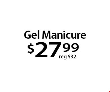 Gel Manicure$27 .99. With this Clipper coupon. Not valid with other offers or prior services. Offer expires 04-02-18.
