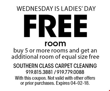 Free roombuy 5 or more rooms and get an additional room of equal size free. With this coupon. Not valid with other offers or prior purchases. Expires 04-02-18.