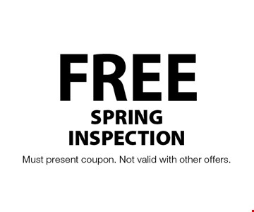 FREE WINTERINSPECTION. Must present coupon. Not valid with other offers.