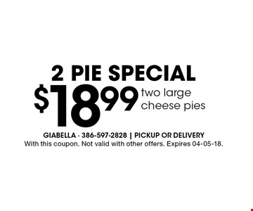 $18.99 two large 