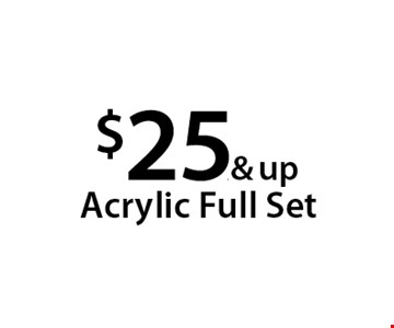 $25.& up Acrylic Full Set. With this Clipper coupon. Not valid with other offers or prior services. Offer expires 04-30-18.