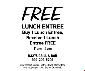 FREE LUNCH ENTREE
